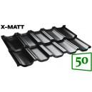 Модульная металлочерепица BudMat VENECJA X-Matt 50*